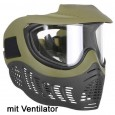 Paintball Maske Invert thermal 20/20  mit Ventilator olive