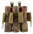 7 Pot (3+4) pt-field Rebel Pack Flecktarn Molle camo unisize